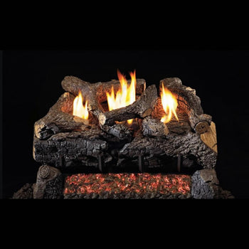 "Real Fyre Evening Fyre Charred 24"" See-Through Vent-Free Gas Log Set"