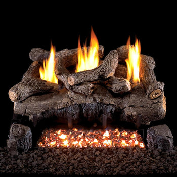Real Fyre Evening Fyre Charred Vent-Free Gas Log Set
