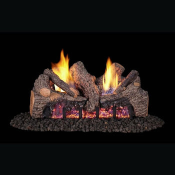 "Real Fyre Evening Fyre Split 16""/18"" See-Through Vent-Free Gas Log Set"