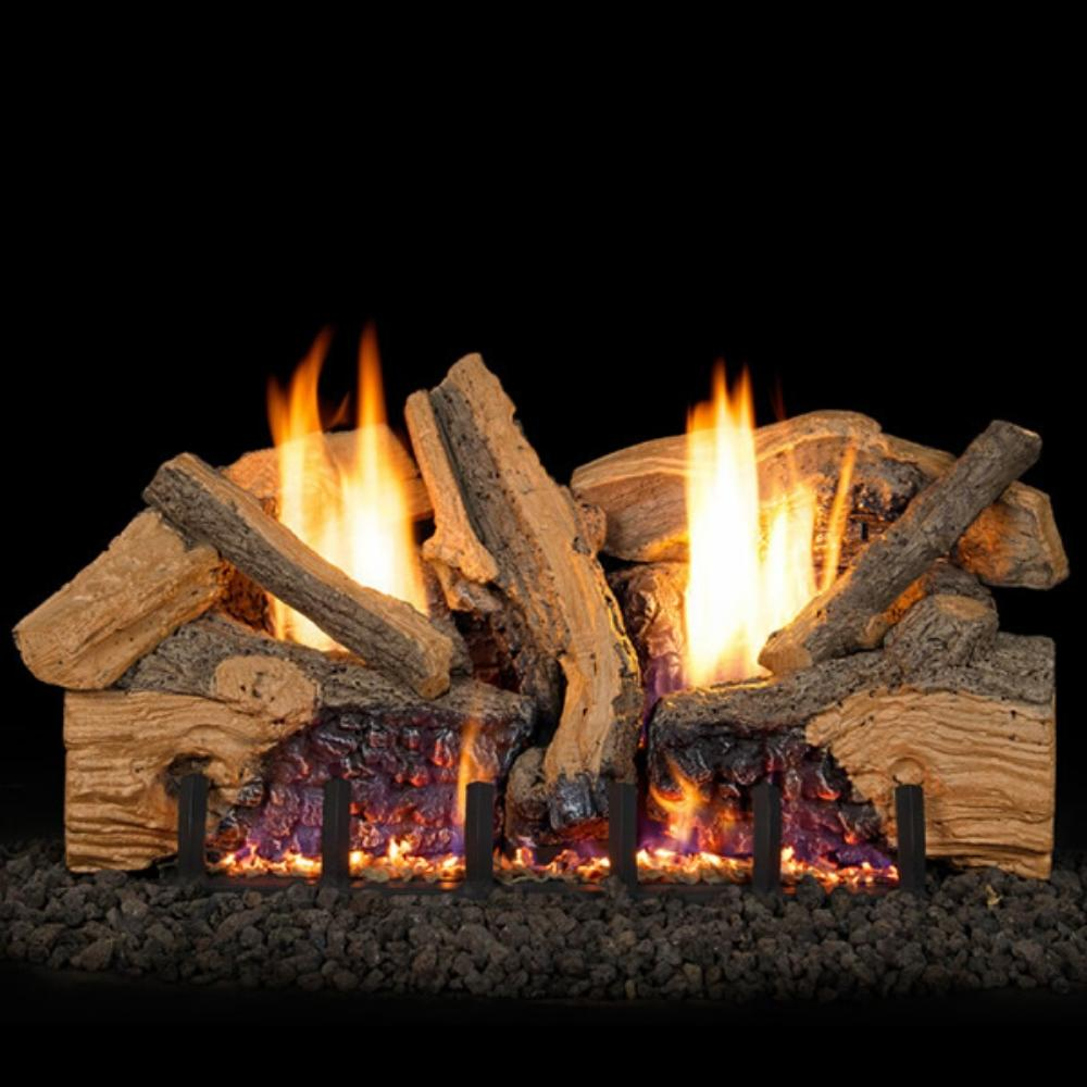 Real Fyre Foothill Split Oak Vent-Free Gas Log Set
