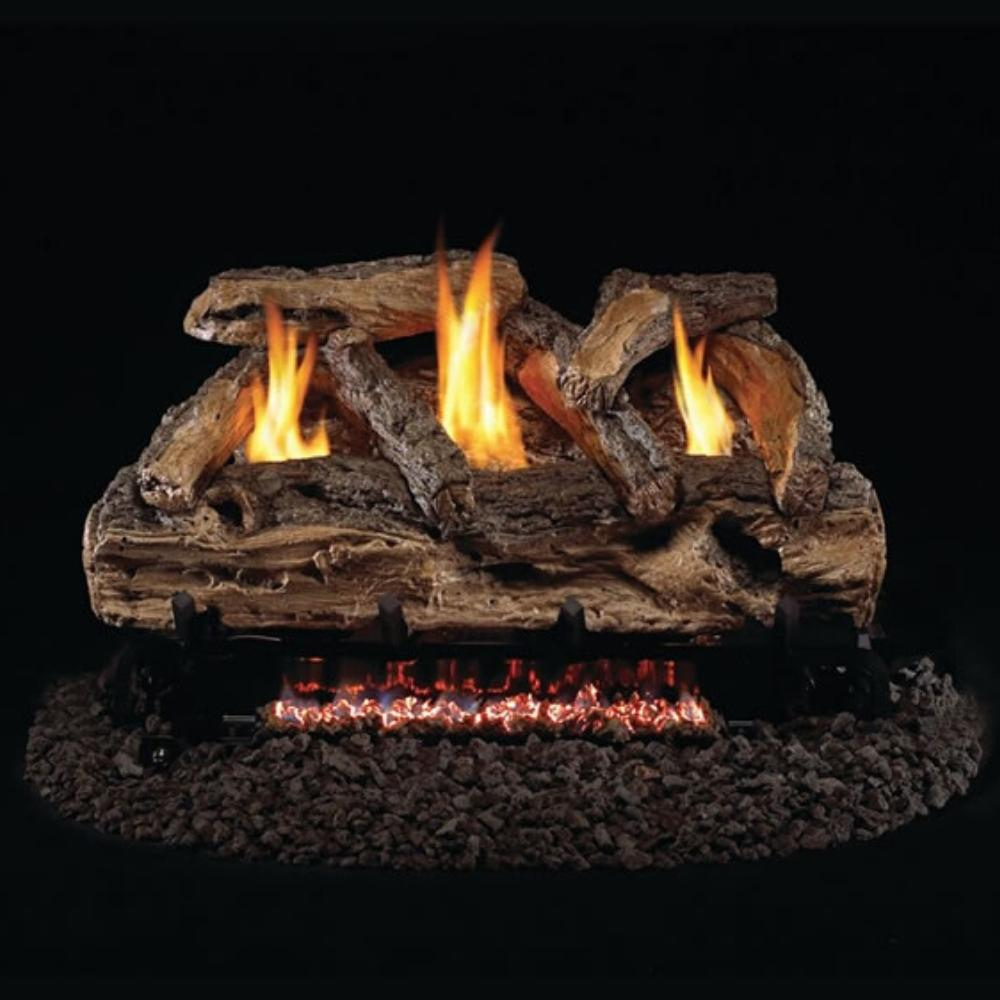 "Real Fyre Split Oak 24"" See-Through Vent-Free Gas Log Set Insert"
