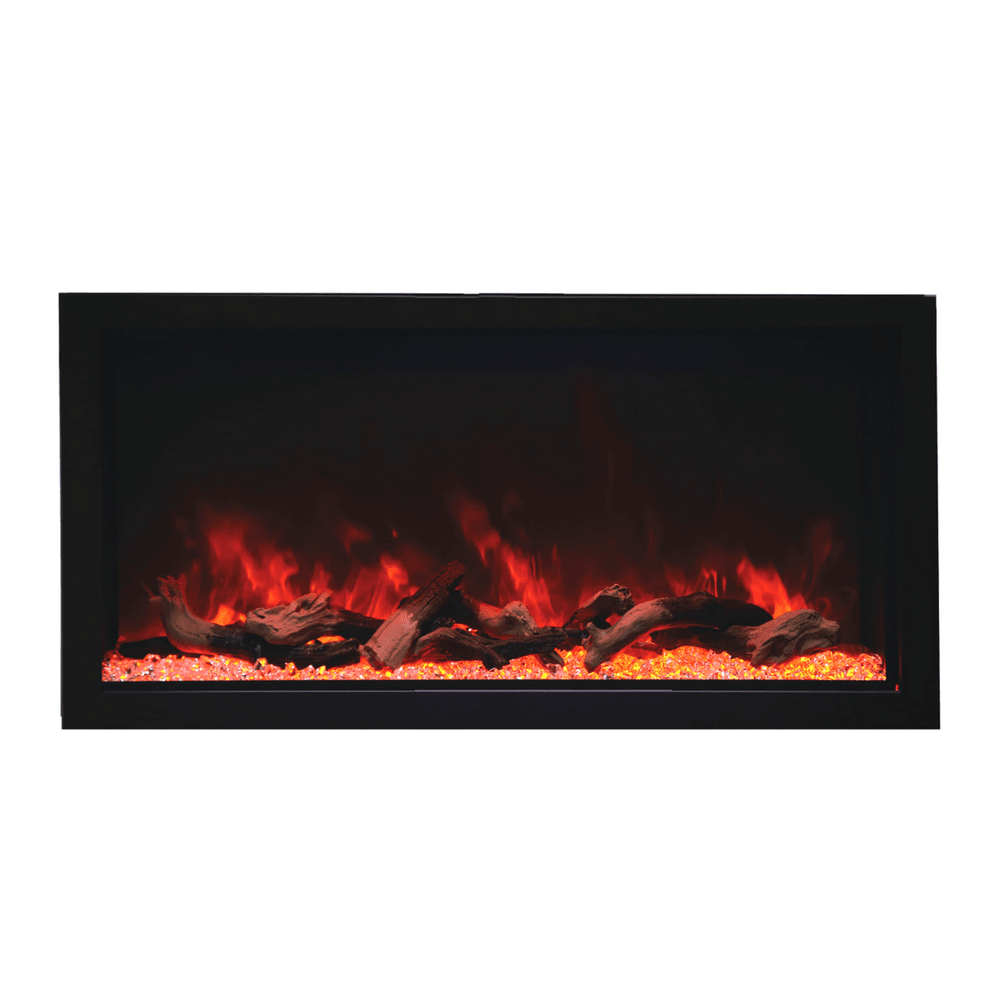 "Remii Extra Tall 45"" Indoor/Outdoor Frameless Built-in Electric Fireplace"