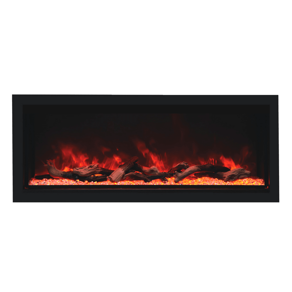 "Remii Extra Tall 55"" Indoor/Outdoor Frameless Built-in Electric Fireplace"