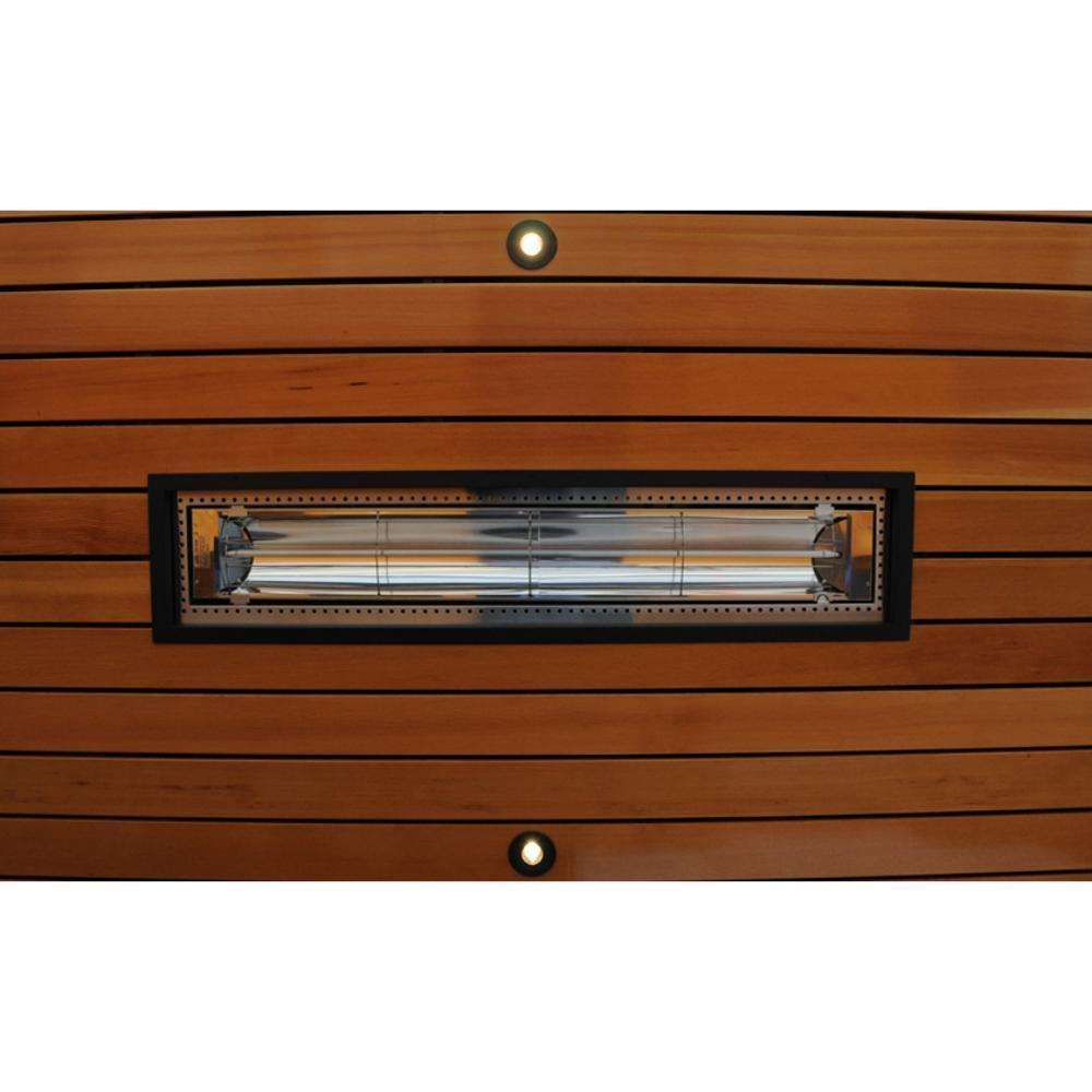 ElectricSchwank Flush Mounted Infrared Electric Heater with Black Frame