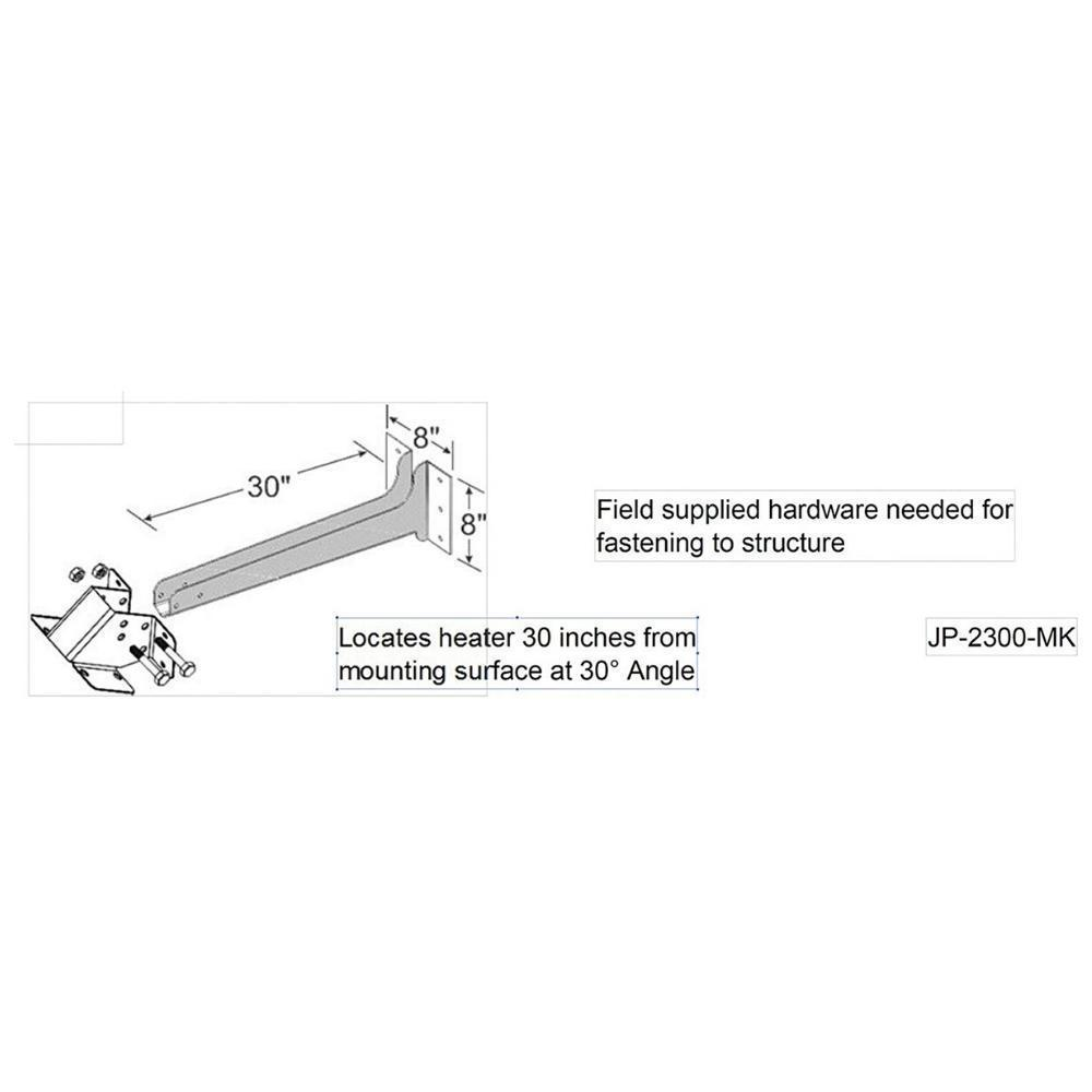 Schwank Wall Mount Arm Kit for Gas Heaters Specs