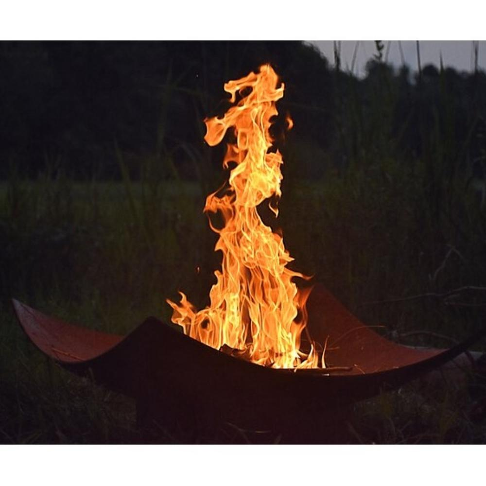 Seasons Fire Pits Quadrilateral Square Steel Fire Pit with Tall Flame