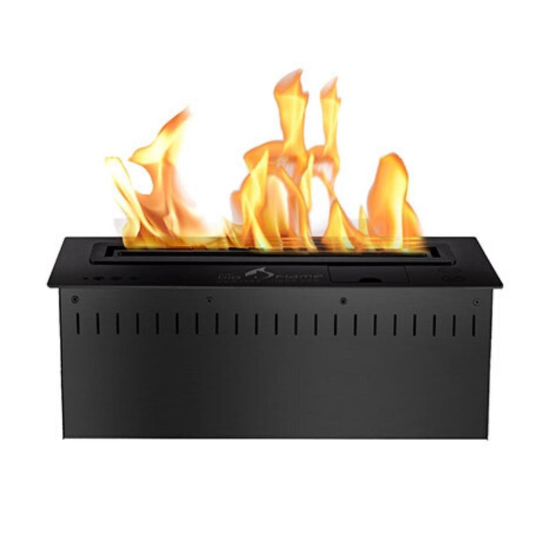 "The Bio Flame 18"" UL Listed Smart Remote Controlled Ethanol Burner, Black or Stainless Steel"