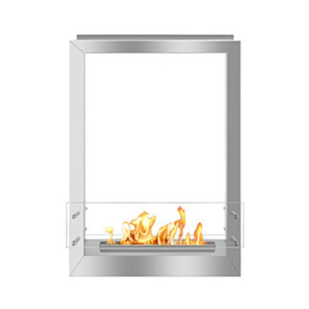 "The Bio Flame 24"" Firebox DS - UL Listed Built-in See-Through Ethanol Fireplace"