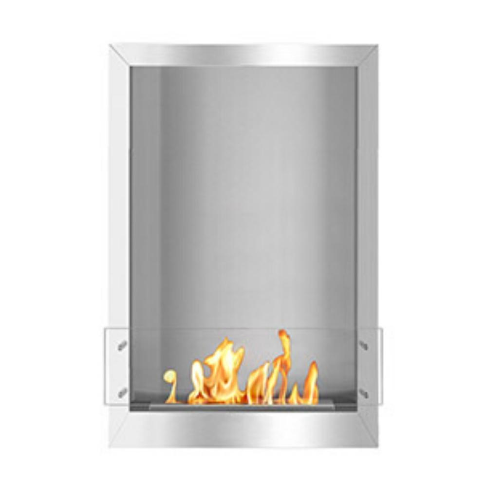 "The Bio Flame 24"" Smart Firebox SS - Built-in Ethanol Fireplace"