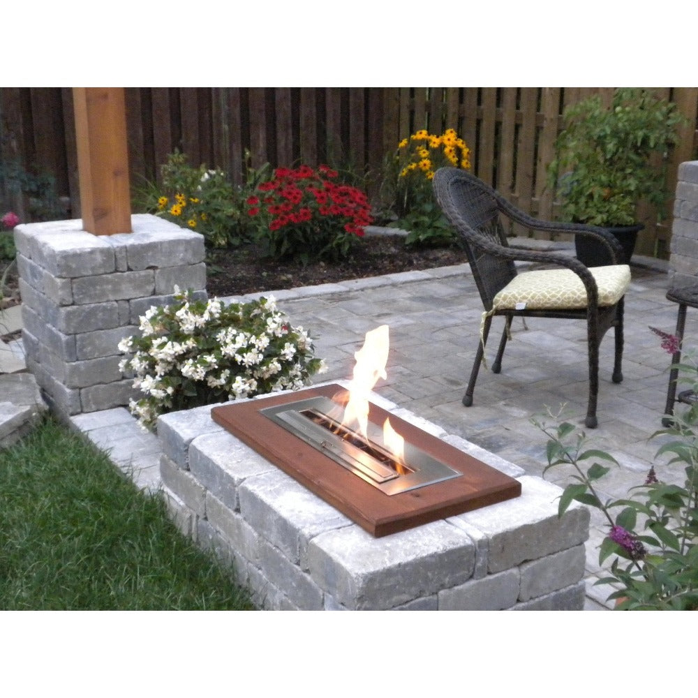Ethanol Burner - The Bio Flame 24″ UL Listed Ethanol Fireplace Burner, Indoor/Outdoor
