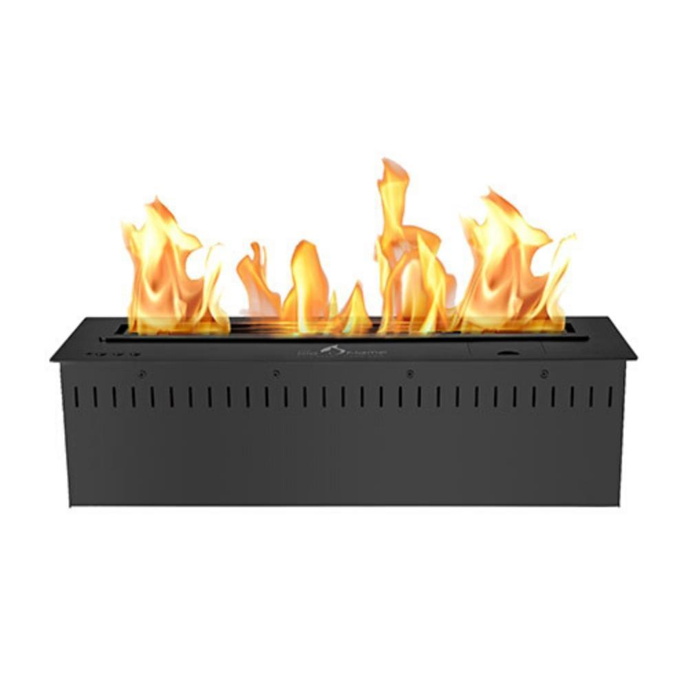 "The Bio Flame 24"" UL Listed Smart Remote Controlled Ethanol Burner, Black or Stainless Steel"