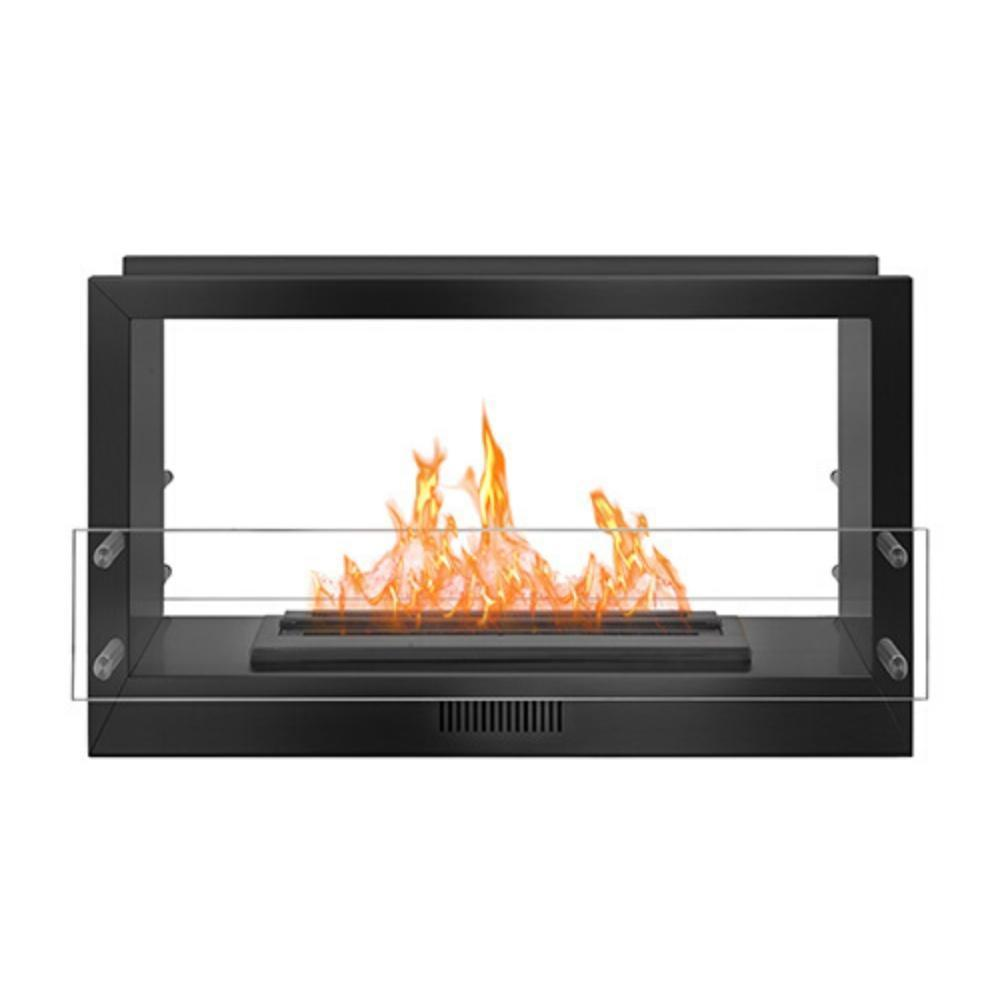 "The Bio Flame 38"" Smart Firebox DS - See-Through Ethanol Fireplace"