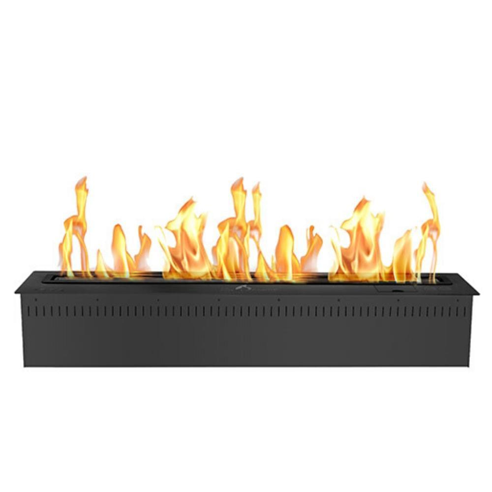"The Bio Flame 48"" Smart Remote Controlled Ethanol Burner, Black or Stainless Steel"