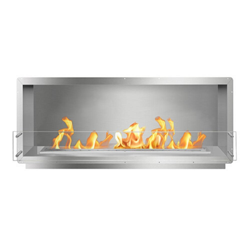 "The Bio Flame 60"" Firebox SS - UL Listed Built-in Ethanol Fireplace"
