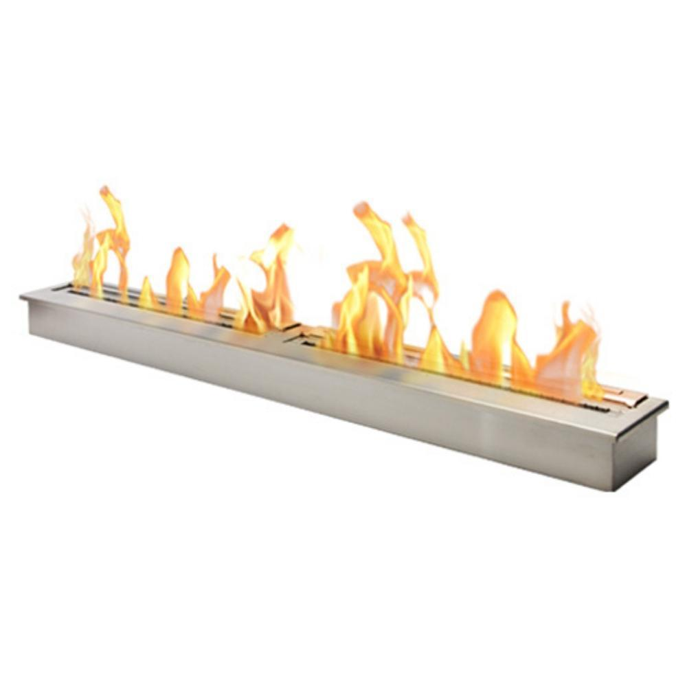 "The Bio Flame 72"" Ethanol Fireplace Burner, Indoor/Outdoor"