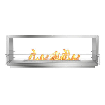 "The Bio Flame 72"" Smart Firebox DS -See-Through Ethanol Fireplace"