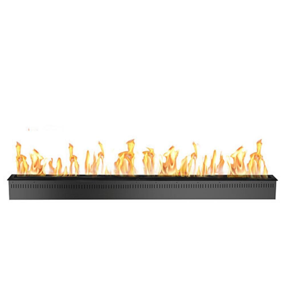 "The Bio Flame 72"" Smart Remote Controlled Ethanol Burner, Black or Stainless Steel"