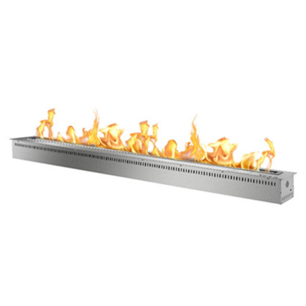 "The Bio Flame 84"" Smart Remote Controlled Ethanol Burner in Stainless Steel"