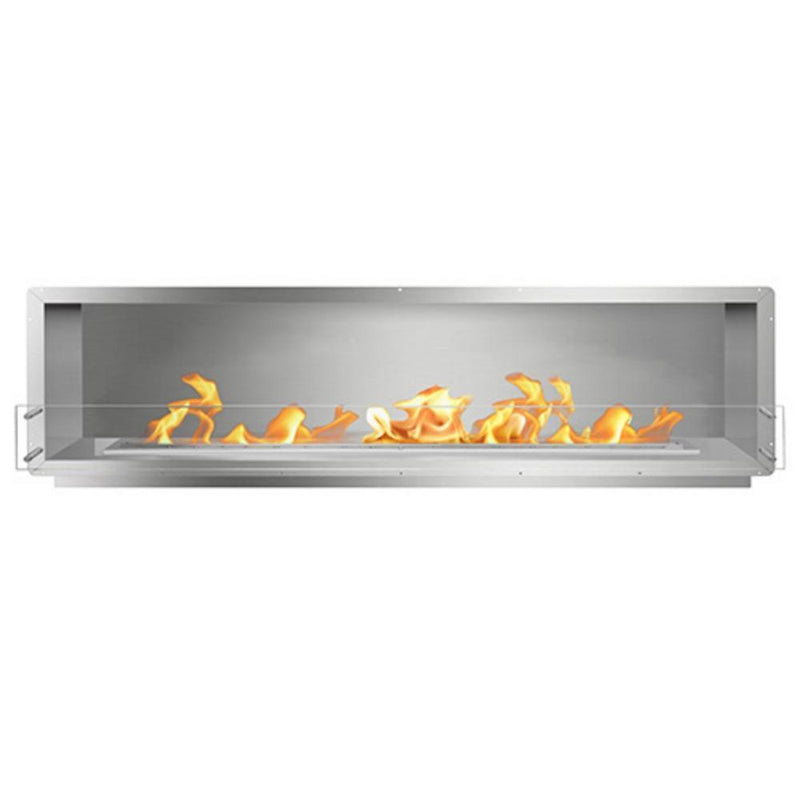 "The Bio Flame 96"" Smart Firebox SS - Built-in Ethanol Fireplace in Stainless Steel"
