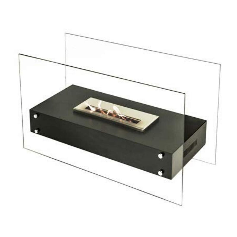 "The Bio Flame Evoque XL - 64"" Free Standing Glass Ethanol Fireplace"