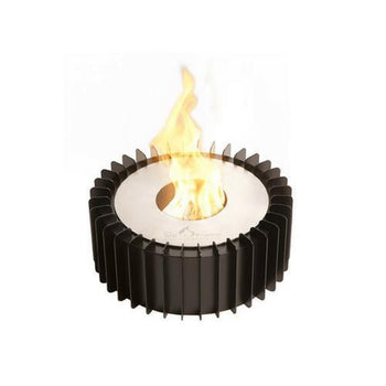 Ethanol Grate - The Bio Flame Fireplace Insert Kit - 13″ Round Ethanol Burner With Grate, Indoor/Outdoor