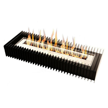 Ethanol Grate - The Bio Flame Fireplace Insert Kit - 38″ UL Listed Ethanol Burner With Grate, Indoor/Outdoor