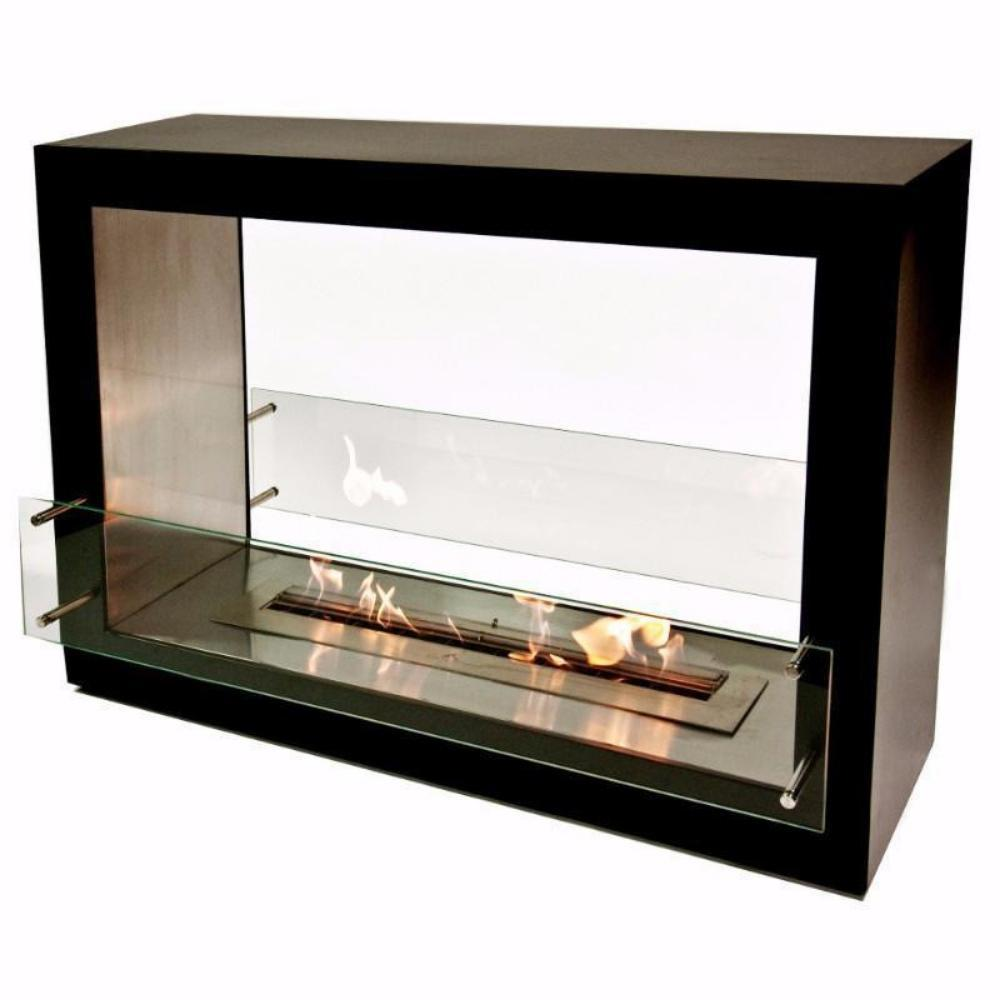"The Bio Flame Sek XL, 53"" Free Standing See-Through Ethanol"