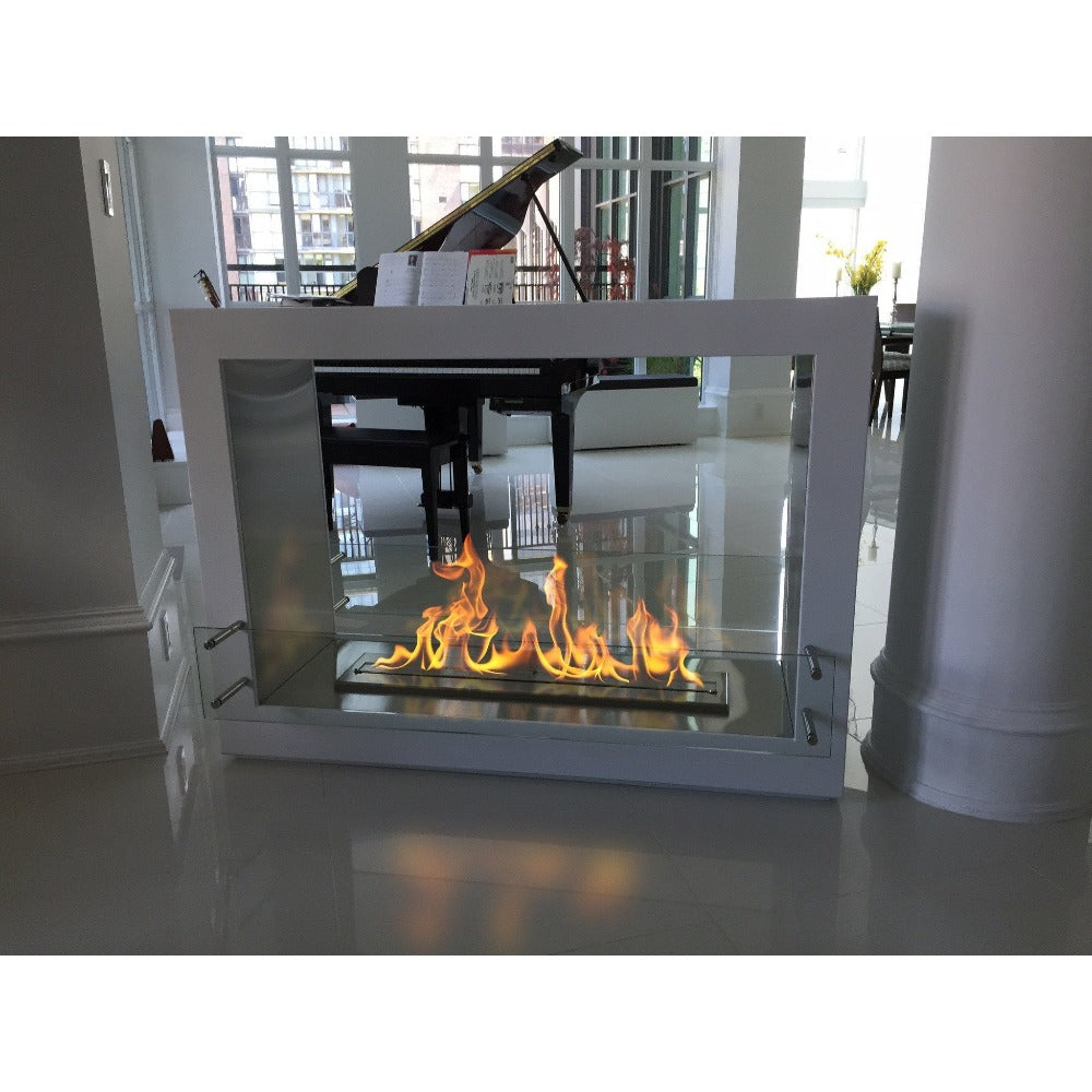 Ethanol Fireplace - The Bio Flame Sek XL - Free Standing See-Through Ethanol Fireplace