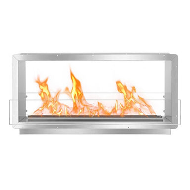 The Bio Flame XL Firebox DS - 53″ UL Listed Built-in See-Thru Ethanol Fireplace