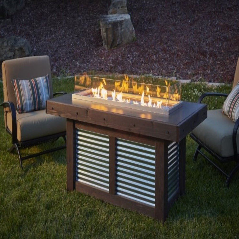 "Denali Brew 57"" Linear Gas Fire Pit Table"
