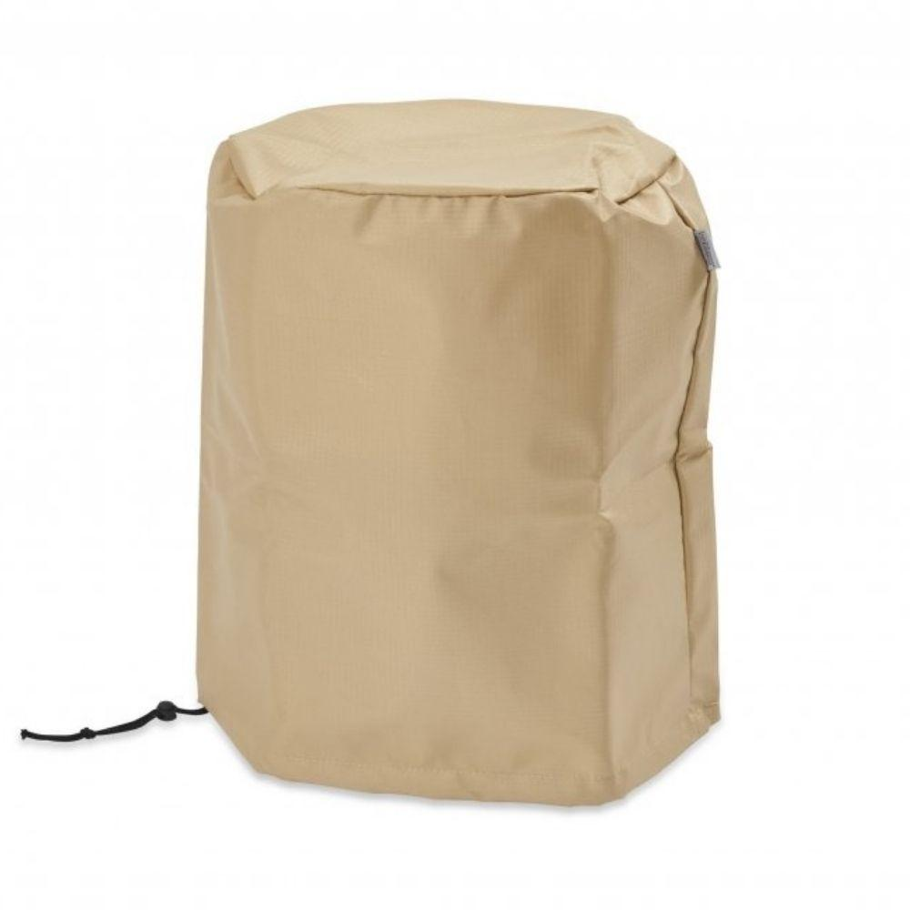 Round Tan Polyester Ripstop Cover with Drawstring Cover/Bag for 20 lb LP Tank