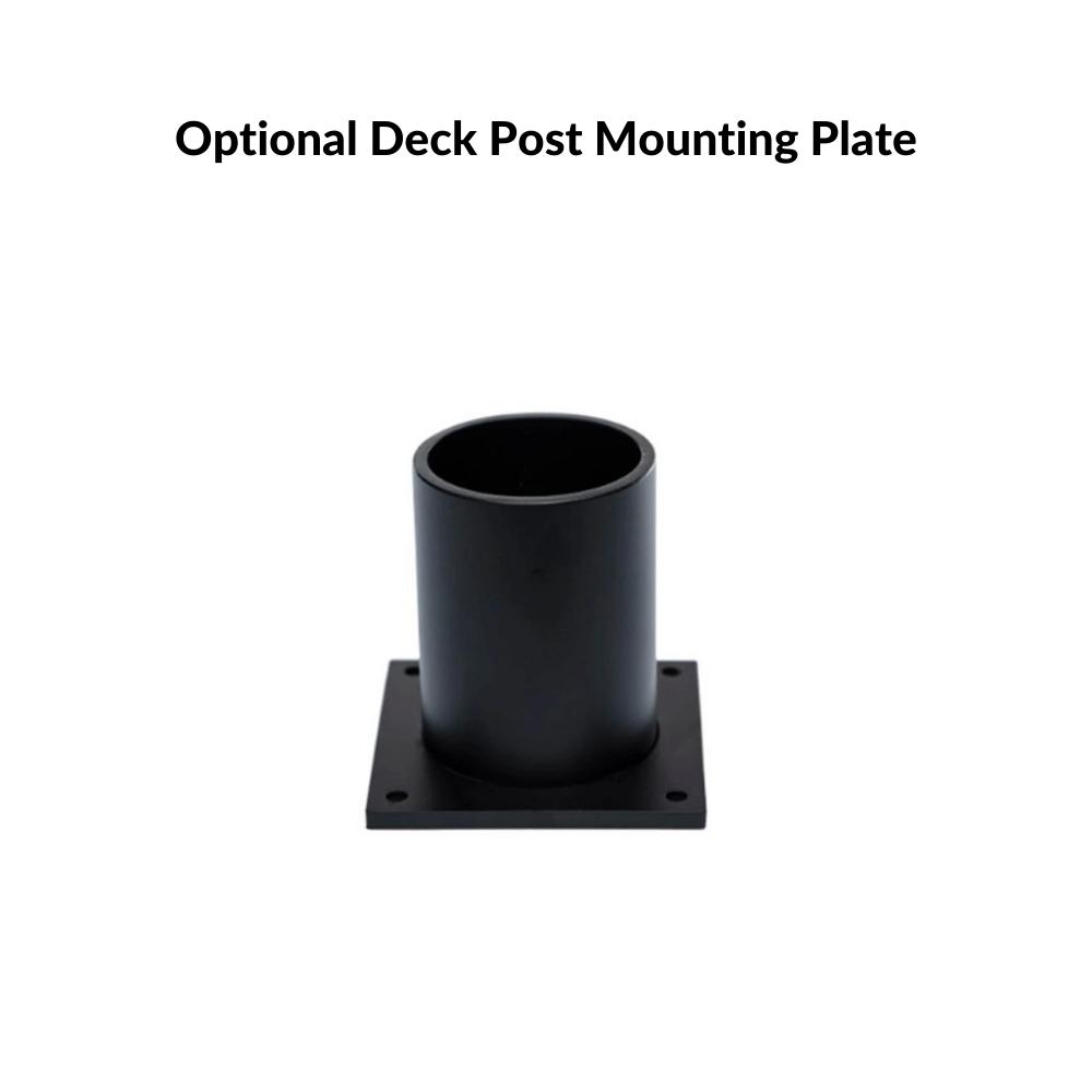 Optional Deck Post Mounting Plate