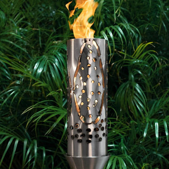 "Top Fires 14"" Coral Stainless Steel Gas Torch"