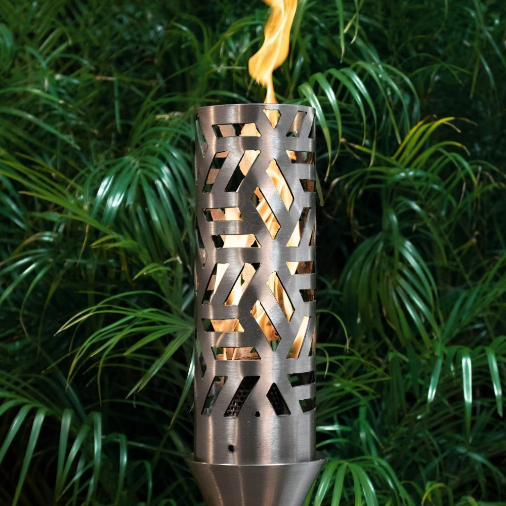 "Top Fires 14"" Cubist Stainless Steel Gas Torch"