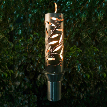 "Top Fires 14"" Havana Stainless Steel Gas Torch"
