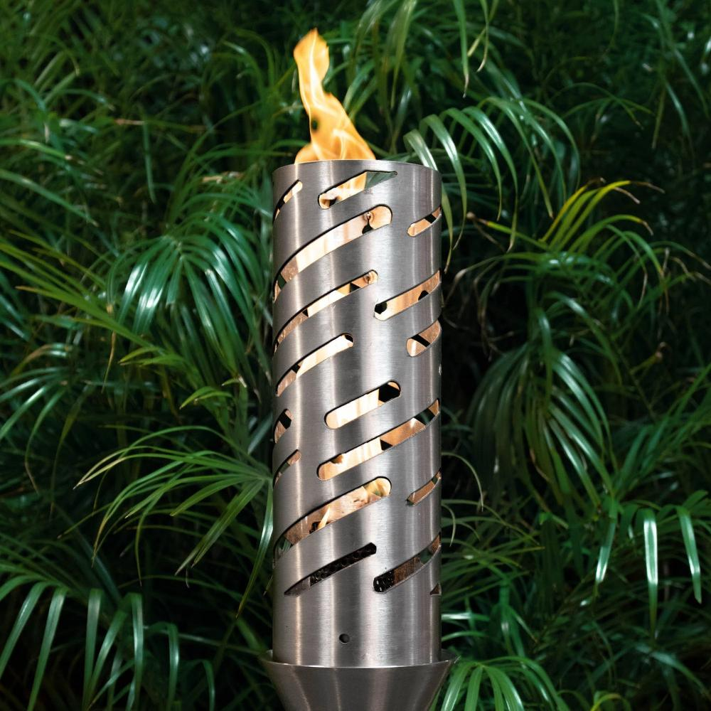 "Top Fires 14"" Shooting Star Stainless Steel Gas Torch"