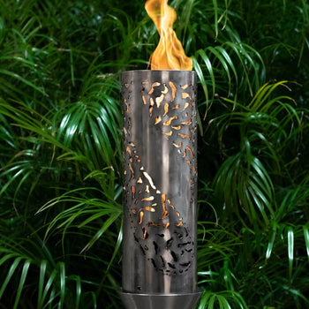 "Top Fires 14"" Tiki Stainless Steel Gas Torch"