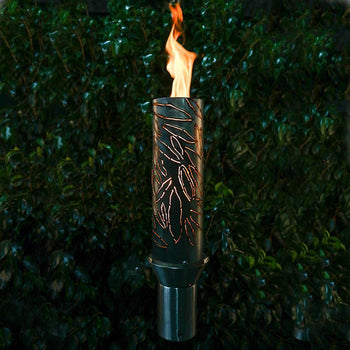 "Top Fires 14"" Tropical Stainless Steel Gas Torch"