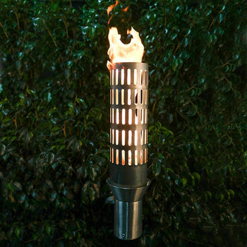 "Top Fires 14"" Vent Stainless Steel Gas Torch"