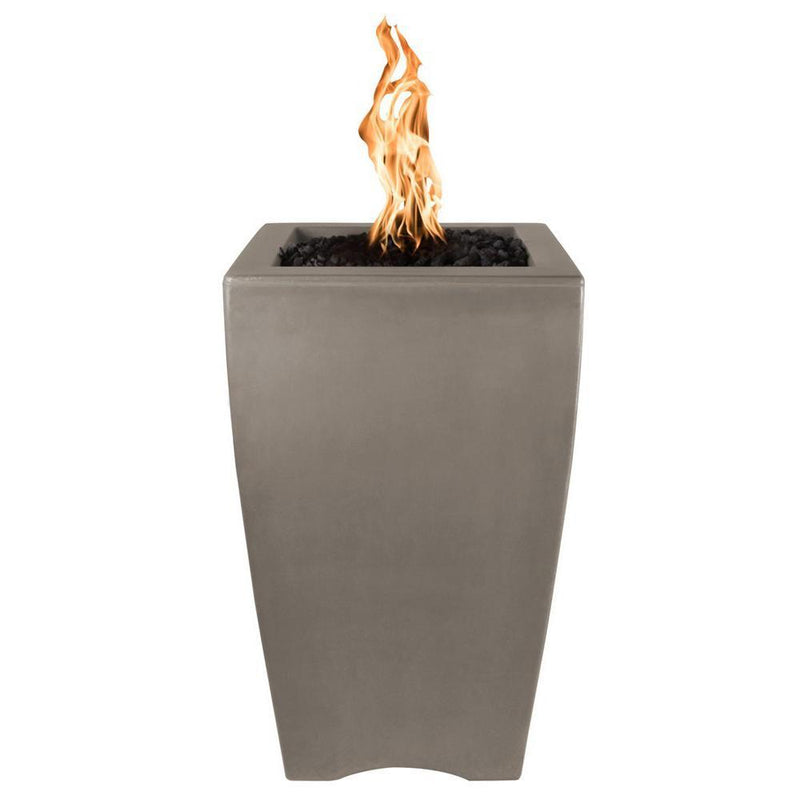 "Top Fires 20"" Baston Pillar GFRC Gas Fire Pit in Ash"