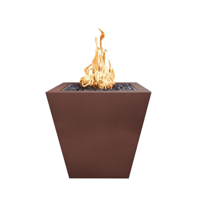 "Top Fires 24"" Copper Gas Fire Pit - Match Lit (OPT-FPT2500)"
