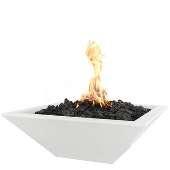 "Top Fires 30"" Square Concrete Gas Fire Bowl - Match Lit (OPT-30SFO)"