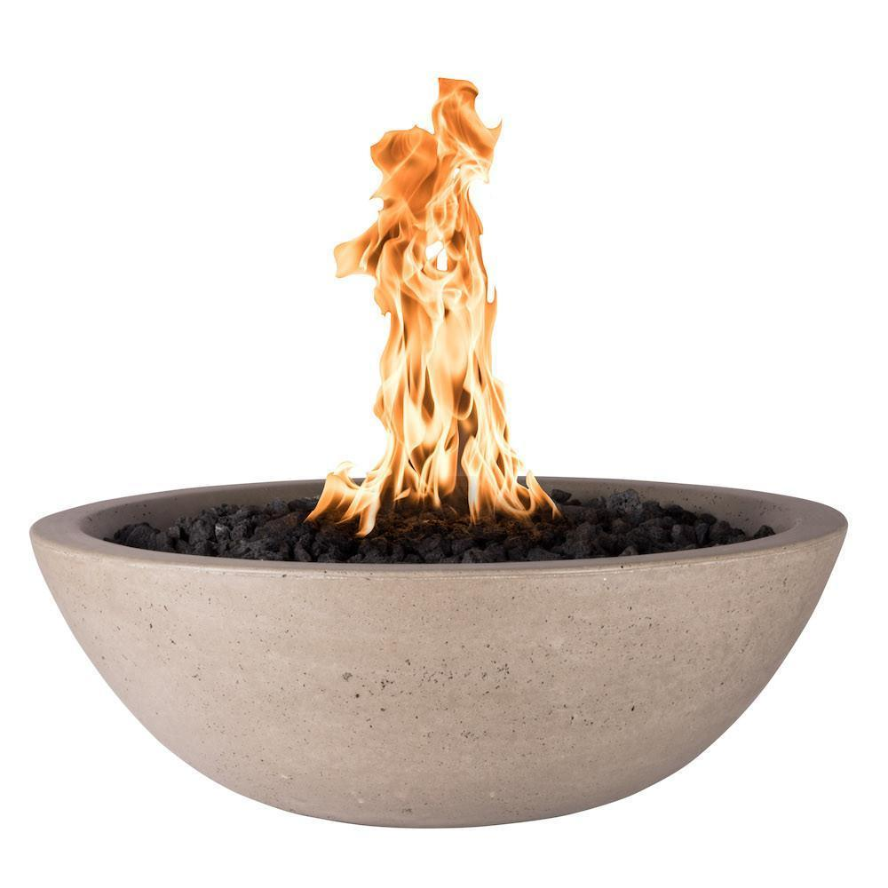 "Top Fires 33"" Round Concrete Gas Fire Bowl - Match Lit (OPT-33RFO)"