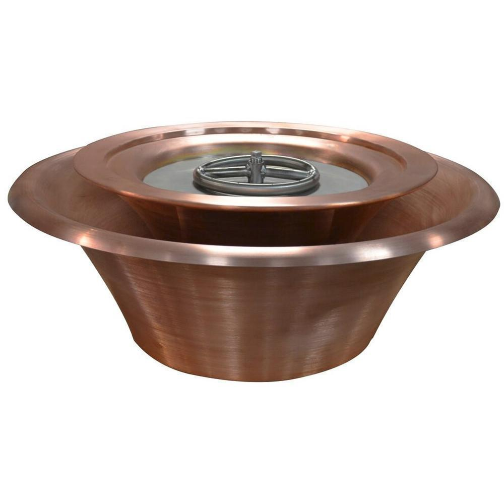 "Top Fires 36"" 360 Spillway Copper Gas Fire and Water Bowl - Match Lit (OPT-36FW360)"