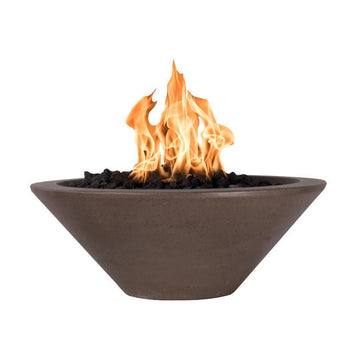 "Top Fires 36"" Round Concrete Gas Fire Bowl - Match Lit (OPT-31RFO)"