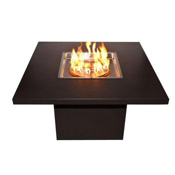 "Top Fires 36""x36"" Square Fire Table Stainless Steel - Match Lit (TOP-3334)"