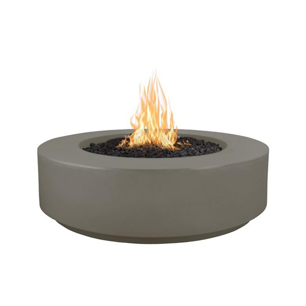 "Top Fires 42"" Florence GFRC Fire Pit in Ash"