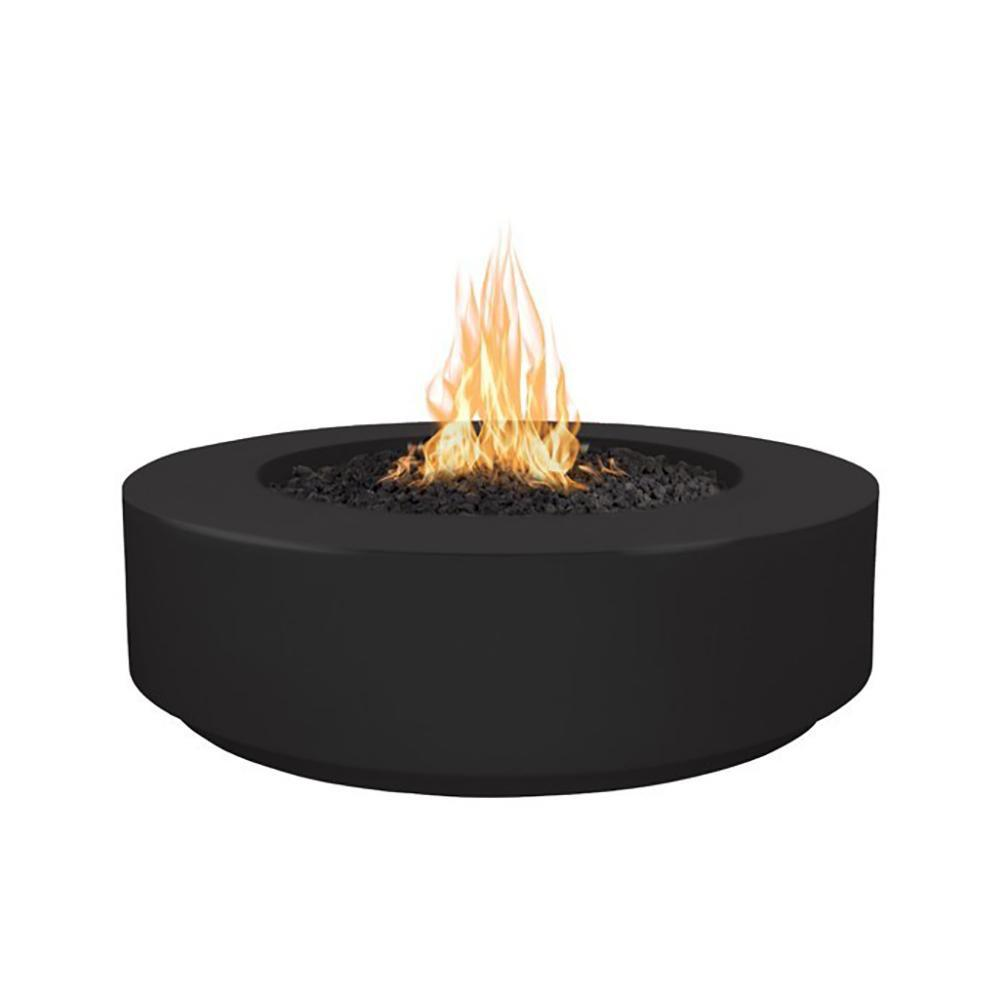 "Top Fires 42"" Florence GFRC Fire Pit in Black"