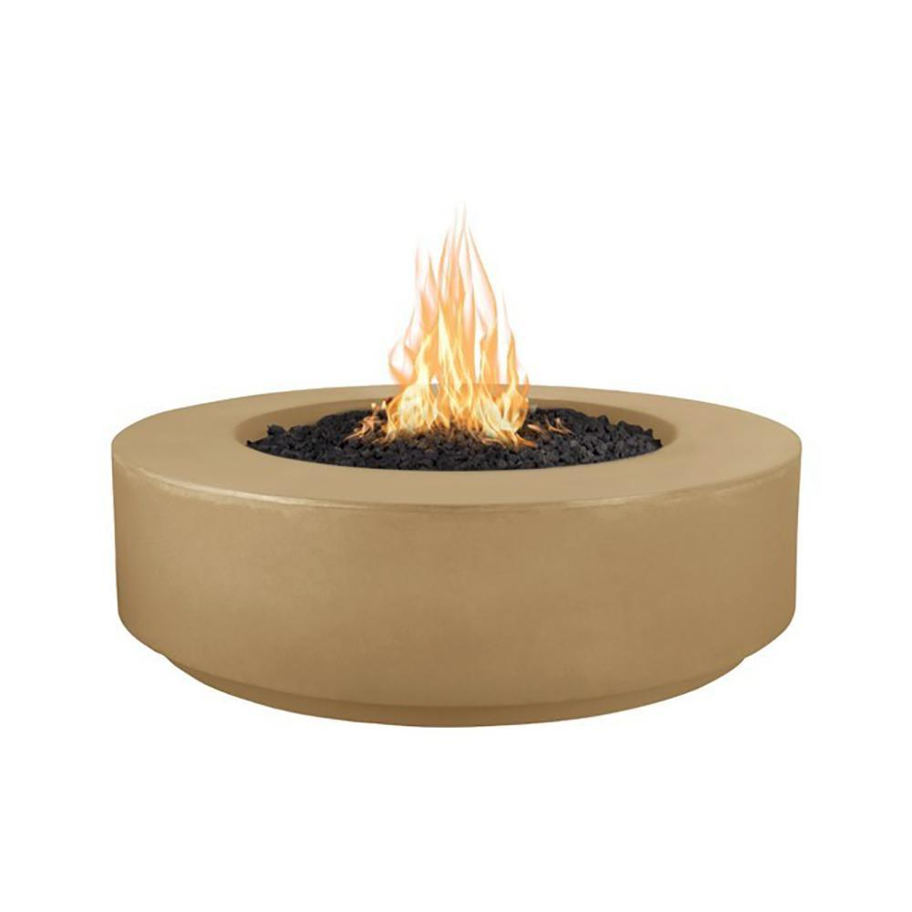 "Top Fires 42"" Florence GFRC Fire Pit in Brown"
