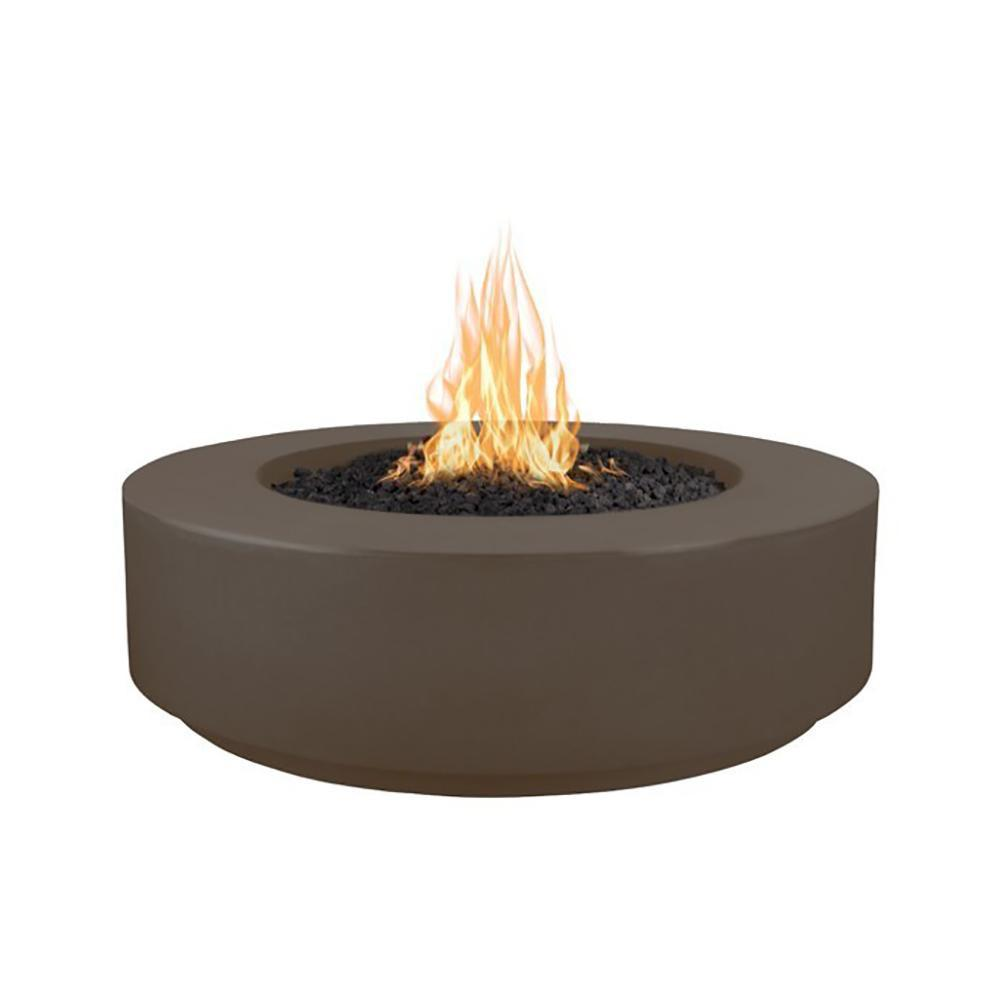"Top Fires 42"" Florence GFRC Fire Pit in Chocolate"